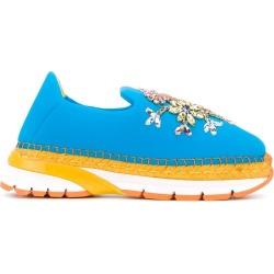 Dolce & Gabbana embellished slip-on espadrille sneakers - Blue