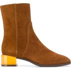 Stuart Weitzman translucent heel boots - Brown found on Bargain Bro UK from FarFetch.com- UK