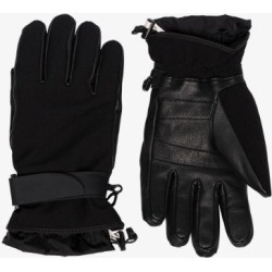 Moncler Grenoble Mens Black Leather And Jersey Gloves found on Bargain Bro UK from Browns Fashion
