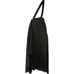 Aganovich brace detail draped skirt - Black found on MODAPINS from FarFetch.com- UK for USD $1410.33
