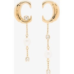 Chloé Womens Gold Tone Darcey Asymmetrical Earrings found on Bargain Bro UK from Browns Fashion