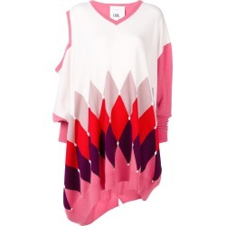 Ballantyne argyle asymmetric jumper - Pink found on MODAPINS from FarFetch.com- UK for USD $816.78