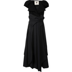 Aganovich belted layered dress - Black found on MODAPINS from FarFetch.com- UK for USD $3384.54