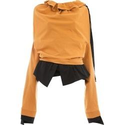 Aganovich ruffle neck sweatshirt - Yellow found on MODAPINS from FarFetch.com - US for USD $548.00