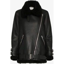 Acne Studios Womens Black Velocite Shearling Aviation Jacket found on MODAPINS from Browns Fashion for USD $2739.51