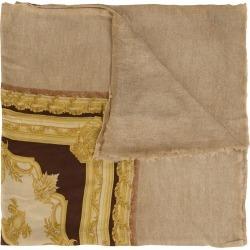 Avant Toi baroque print scarf - Brown found on MODAPINS from FARFETCH.COM Australia for USD $972.75
