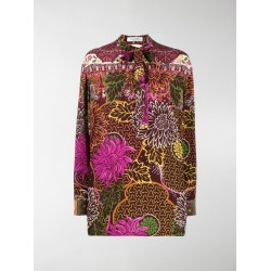 Valentino floral print pussy bow blouse