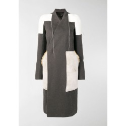 Rick Owens patchwork panelled coat found on Bargain Bro UK from MODES GLOBAL