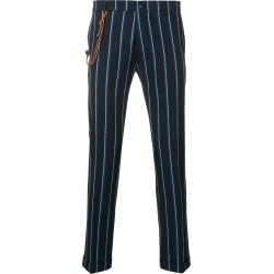 Berwich striped slim-fit trousers - Navy found on MODAPINS from FarFetch.com- UK for USD $269.56