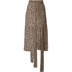 Barbara Bologna leopard print cut strip skirt - Brown found on MODAPINS from FARFETCH.COM Australia for USD $232.90