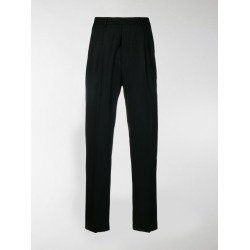 Officine Generale Marcel flannel straight trousers found on Bargain Bro India from stefania mode for $137.00