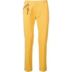 Berwich check print trousers - Yellow found on MODAPINS from FarFetch.com- UK for USD $159.24