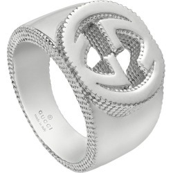 Gucci Interlocking G ring in silver found on Bargain Bro India from FarFetch.com - US for $330.00