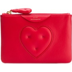 Anya Hindmarch Chubby Heart zipped card case - Red found on MODAPINS from FarFetch.com - US for USD $148.00