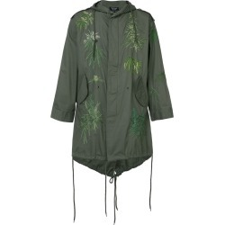 Creatures Of The Wind - Army embroidered parka - unisex - Cotton - One Size, Green