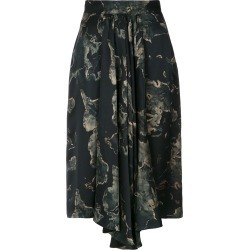 Andrea Marques printed ruffle skirt - Black found on MODAPINS from FarFetch.com- UK for USD $606.46