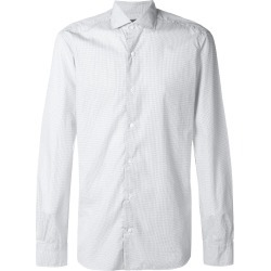 Barba micro dot shirt - Blue found on MODAPINS from FarFetch.com- UK for USD $215.49
