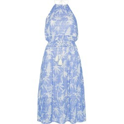 A Peace Treaty Boetica halterneck palm print cotton blend dress - Blue found on MODAPINS from FarFetch.com- UK for USD $237.93