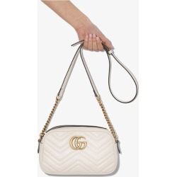 Gucci white GG Marmont matelassé shoulder bag found on MODAPINS from Browns Fashion US for USD $1290.00