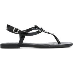 Armani Jeans logo sandals - Black found on MODAPINS from FARFETCH.COM Australia for USD $98.91