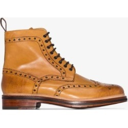 Grenson Mens Brown Tan Fred Leather Boots found on MODAPINS from Browns Fashion for USD $352.22