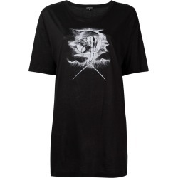 Ann Demeulemeester illustration print T-shirt - Black found on MODAPINS from FarFetch.com- UK for USD $252.29