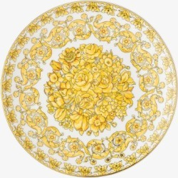 Versace Womens Yellow White Medusa Rhapsody Porcelain Dinner Plate found on Bargain Bro UK from Browns Fashion