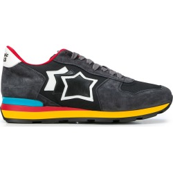 Atlantic Stars rainbow sole lace up trainers - Black found on MODAPINS from FARFETCH.COM Australia for USD $152.91