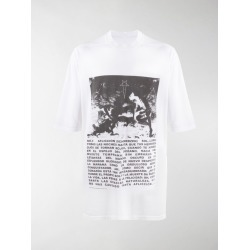 Rick Owens DRKSHDW oversized graphic-print cotton T-shirt found on Bargain Bro UK from MODES GLOBAL
