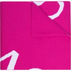 Versace Womens Pink Logo Wool Scarf found on Bargain Bro UK from Browns Fashion