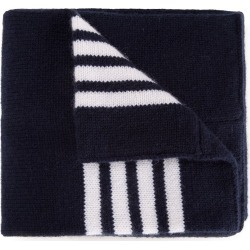 Thom Browne Kids Baby Scarf With White 4-Bar Stripe In Navy Cashmere - found on Bargain Bro UK from FarFetch.com- UK