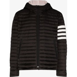 Thom Browne Mens Black 4 Stripe Padded Jacket found on Bargain Bro UK from Browns Fashion