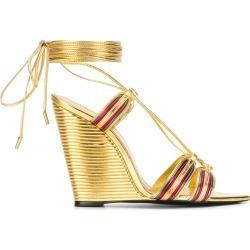 Saint Laurent Espadrille metallic sandals