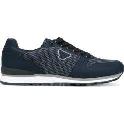 Armani Jeans panelled sneakers - Blue found on MODAPINS from FarFetch.com- UK for USD $134.52