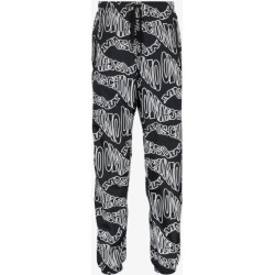 Moschino Mens Black Logo Print Track Pants found on Bargain Bro UK from Browns Fashion