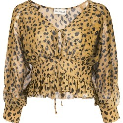 Nicholas leopard print fitted blouse - Yellow found on Bargain Bro Philippines from FARFETCH.COM Australia for $270.54