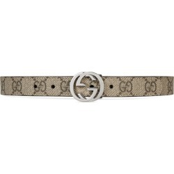 Gucci Kids Children's GG Supreme belt - Brown found on MODAPINS from FarFetch.com - US for USD $170.00