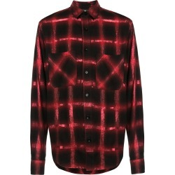 Amiri checked button-down shirt - Red found on MODAPINS from FarFetch.com- UK for USD $741.49