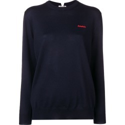 Miu Miu embroidered logo jumper - Blue found on Bargain Bro UK from FarFetch.com- UK