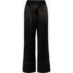 Acne Studios Womens Black High-rise Wide Leg Trousers found on Bargain Bro UK from Browns Fashion