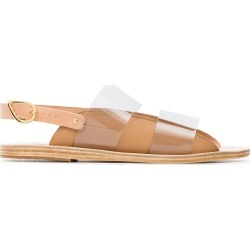 Ancient Greek Sandals tan dinami PVC and leather sandals - Neutrals found on MODAPINS from FarFetch.com - US for USD $133.00