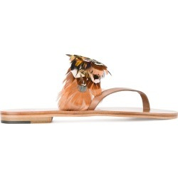 Álvaro Multi Feather Alberta Sandals - Brown found on MODAPINS from FARFETCH.COM Australia for USD $192.40