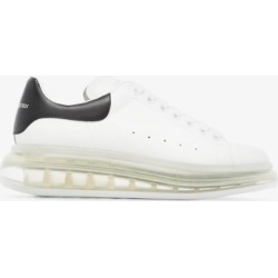 Alexander Mcqueen Womens White Oversized Transparent Sole Sneakers found on Bargain Bro UK from Browns Fashion