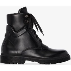 Moncler Womens Black Patty Leather Ankle Boots found on Bargain Bro UK from Browns Fashion