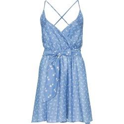 A Peace Treaty tiza wrap front mini dress - Blue found on MODAPINS from FarFetch.com- UK for USD $344.45