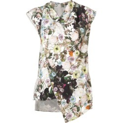 Adam Lippes floral asymmetric top - White found on MODAPINS from FARFETCH.COM Australia for USD $1265.04