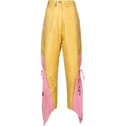Barbara Bologna Be high waisted trousers - Yellow found on MODAPINS from FARFETCH.COM Australia for USD $303.17