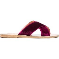 Ancient Greek Sandals Purple Thais Velvet Sandals - Pink found on MODAPINS from FarFetch.com - US for USD $93.00