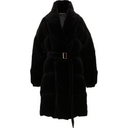 Alexandre Vauthier velvet feather down cotton puffer coat - Black found on MODAPINS from FarFetch.com- UK for USD $4456.81