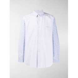 Comme Des Garçons Shirt multi-stripe patch pocket shirt found on MODAPINS from stefania mode for USD $226.00